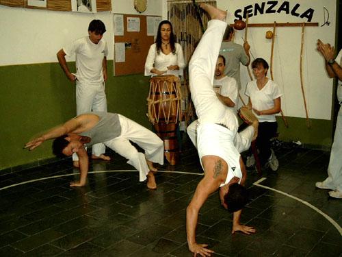 a class of Capoeira