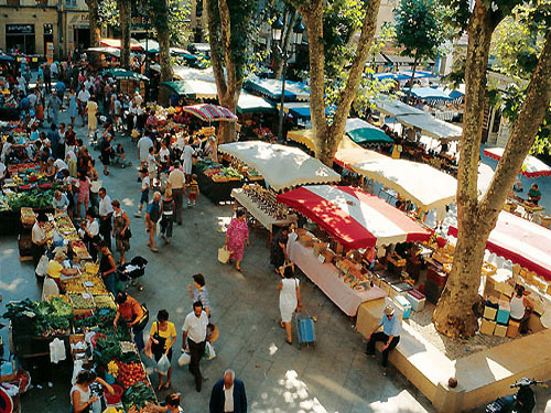 Marketplace in the center