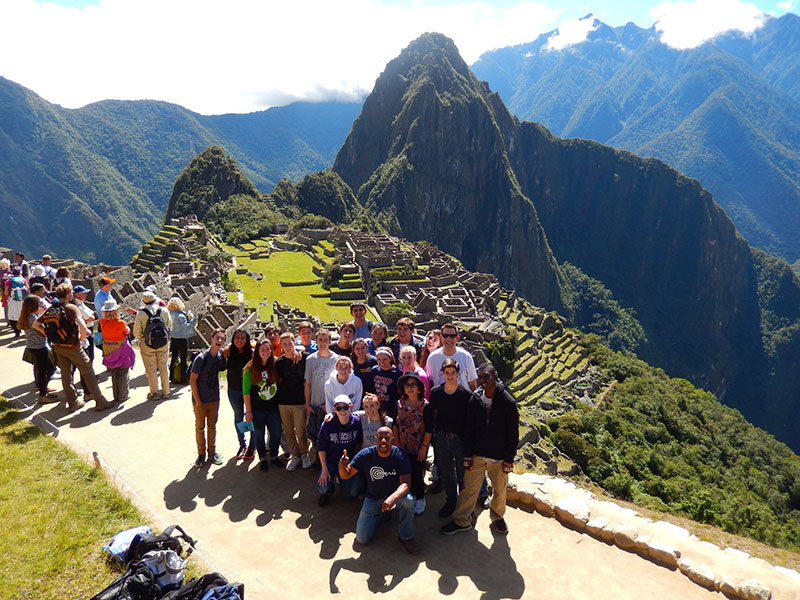 Group excursion to Machu Picchu